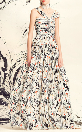 Twist Front Plisse Gown by ADEAM for Preorder on Moda Operandi