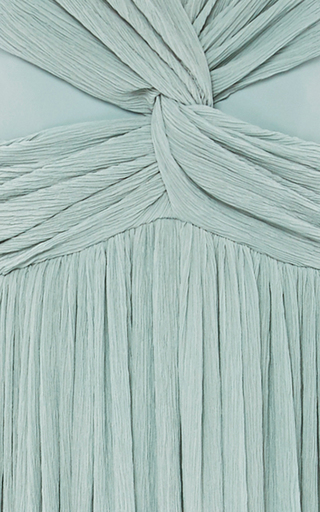 Knotted Plisse Gown by ADEAM for Preorder on Moda Operandi