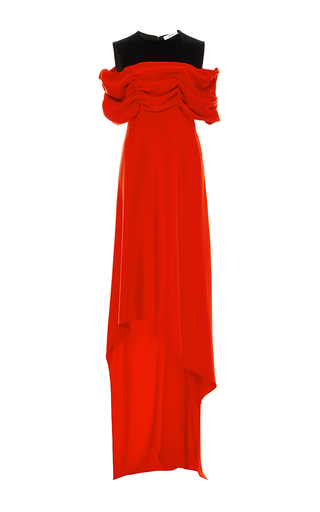 Ruched Shoulder Combo Dress by ADEAM for Preorder on Moda Operandi