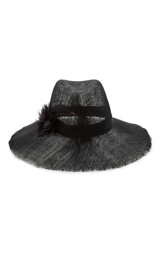 Medium eugenia kim black emanuelle floral appliqued woven sunhat 2