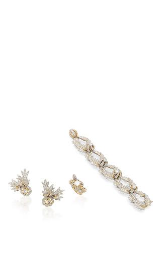 Medium robin katz vintage jewels gold schlumberger suite diamond set