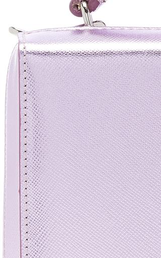 Metallic Saffiano Grace Mini Box Bag by MARK CROSS for Preorder on Moda Operandi