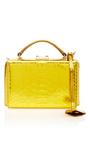 Python Metallic Grace Mini Box Bag by MARK CROSS for Preorder on Moda Operandi
