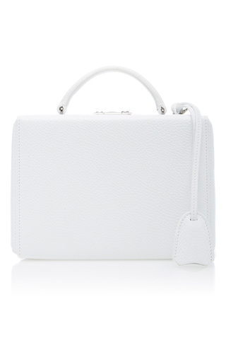Medium mark cross white pebble grain grace small box bag