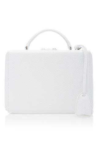 Medium mark cross white pebble grain grace small box bag