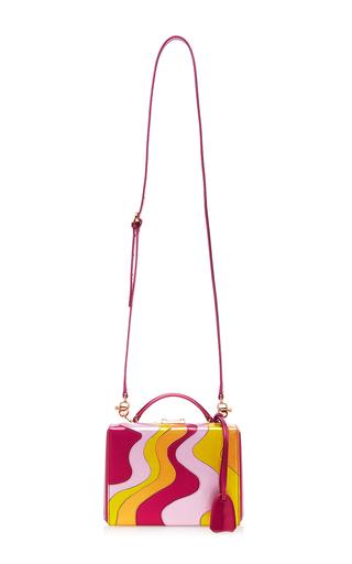 Wave Metallic Saffiano Grace Small Box Bag by MARK CROSS for Preorder on Moda Operandi