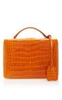 Crocodile Grace Small Box Bag by MARK CROSS for Preorder on Moda Operandi
