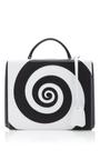 Swirl Pebble Grain Grace Large Box Bag by MARK CROSS for Preorder on Moda Operandi