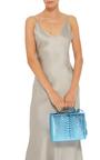 Python Metallic Grace Large Box Bag by MARK CROSS for Preorder on Moda Operandi
