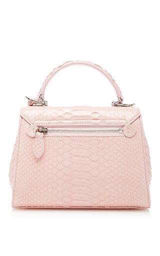 Python Solid Hadley Baby Flap Bag by MARK CROSS for Preorder on Moda Operandi