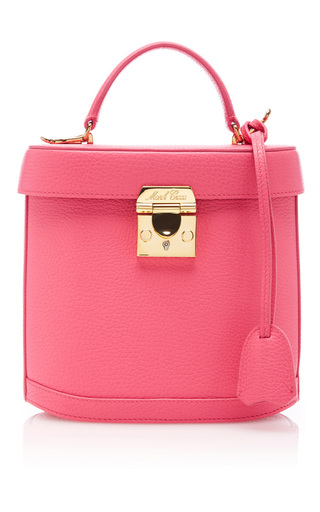 Medium mark cross pink pebble grain benchley bag