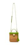 Petal Green Pebble Grain Benchley Rattan Bag by MARK CROSS for Preorder on Moda Operandi