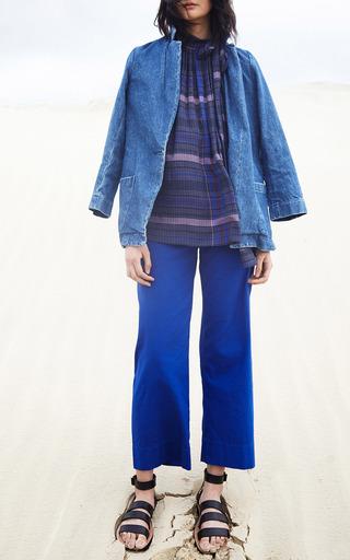 Original Denim Blazer by APIECE APART for Preorder on Moda Operandi