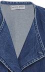 Fatima Denim Wrap Cape by APIECE APART for Preorder on Moda Operandi