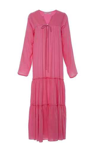 Medium apiece apart pink atlas tiered maxi dress