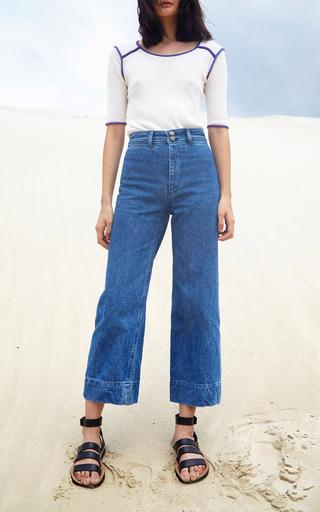 Sania Contrast Top by APIECE APART for Preorder on Moda Operandi