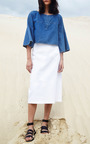 Antonia A Line Midi Skirt by APIECE APART for Preorder on Moda Operandi