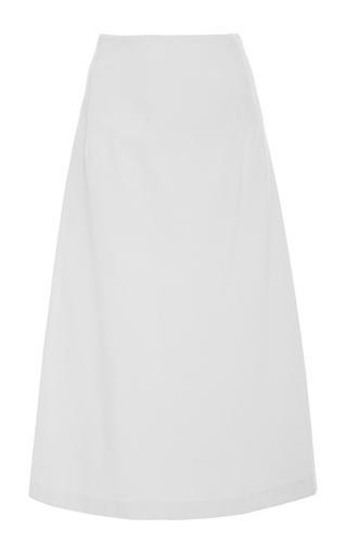 Medium apiece apart white antonia a line midi skirt