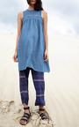 Safi Sleeveless Denim Dress by APIECE APART for Preorder on Moda Operandi