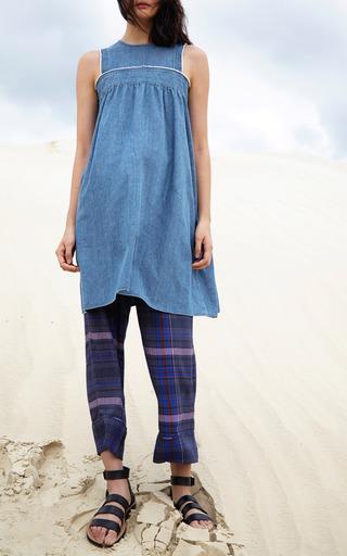 Shanghai Plaid Drawstring Pants by APIECE APART for Preorder on Moda Operandi