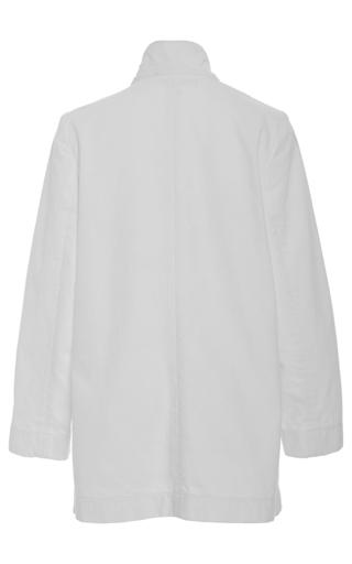 Original White Denim Blazer by APIECE APART for Preorder on Moda Operandi