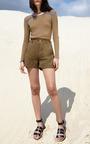 Sania Contrast Long Sleeve Top by APIECE APART for Preorder on Moda Operandi