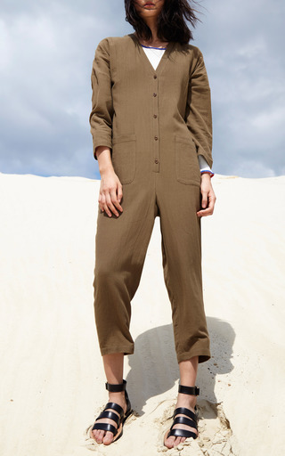 Nasiria Button Front Jumpsuit by APIECE APART for Preorder on Moda Operandi