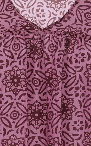 Ceuta Pink Medallion Tiered Maxi Dress by APIECE APART for Preorder on Moda Operandi