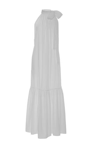 Solazure White Tie Neck Dress by APIECE APART for Preorder on Moda Operandi