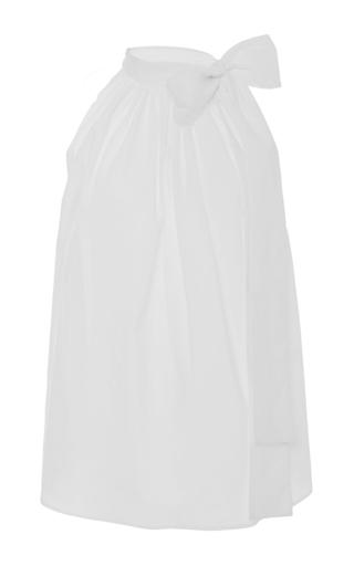 Medina White Tie Neck Top by APIECE APART for Preorder on Moda Operandi