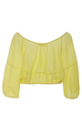 Aures Cropped Peasant Top by APIECE APART for Preorder on Moda Operandi