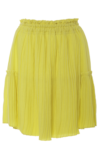 Palomitas Accordion Mini Skirt by APIECE APART for Preorder on Moda Operandi