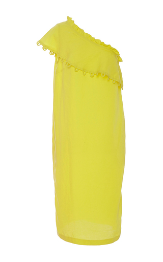 Reina One Shoulder Ruffle Dress by APIECE APART for Preorder on Moda Operandi