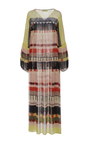 Ceuta Abstract Soleil Tiered Maxi Dress by APIECE APART for Preorder on Moda Operandi