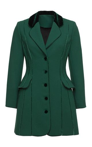 Medium ulyana sergeenko green contrast piping dress