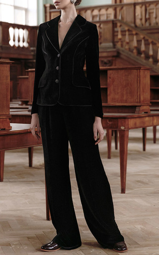 Wide Legged Velvet Pants by ULYANA SERGEENKO for Preorder on Moda Operandi