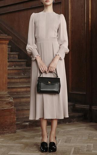 Bishop Sleeved Ruffle Midi Dress by ULYANA SERGEENKO for Preorder on Moda Operandi