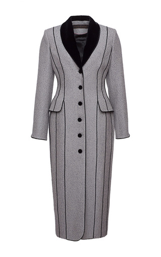 Contrast Piping Long Coat by ULYANA SERGEENKO for Preorder on Moda Operandi