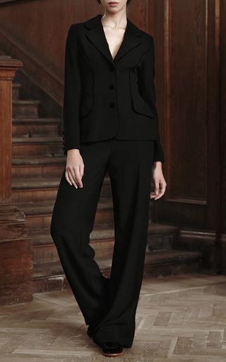 Wide Legged Wool Pants by ULYANA SERGEENKO for Preorder on Moda Operandi