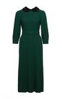 Macramé Appliqué Collared Midi Dress by ULYANA SERGEENKO for Preorder on Moda Operandi