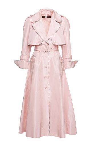 Medium ulyana sergeenko pink notched lapel a line coat