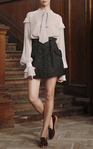 Flounced Cuff Chiffon Blouse  by ULYANA SERGEENKO for Preorder on Moda Operandi