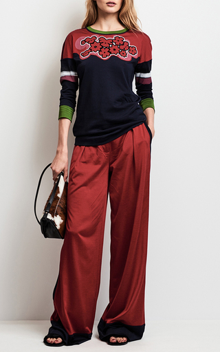 Color Block Floral Top by TOMAS MAIER for Preorder on Moda Operandi