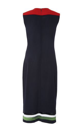 Sleeveless Sheath Floral Color Block Dress by TOMAS MAIER for Preorder on Moda Operandi