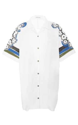 Floral Sleeve Notched Collar Top by TOMAS MAIER for Preorder on Moda Operandi