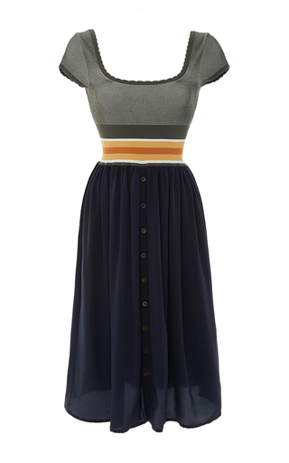 Scoop Neckline Color Block Dress by TOMAS MAIER for Preorder on Moda Operandi