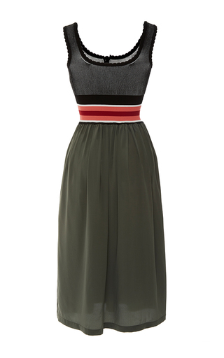 Sleeveless Color Block Scoop Dress by TOMAS MAIER for Preorder on Moda Operandi