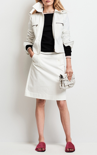 Front Button A Line Skirt by TOMAS MAIER for Preorder on Moda Operandi