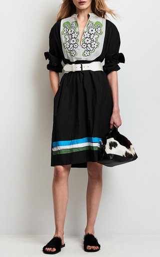 Tropical Floral Color Block Dress by TOMAS MAIER for Preorder on Moda Operandi