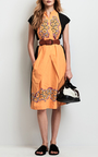 Tropical Floral Color Block Illusion Wrap Dress by TOMAS MAIER for Preorder on Moda Operandi